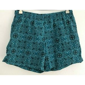 Columbia Small Blue Elastic Shorts Womens